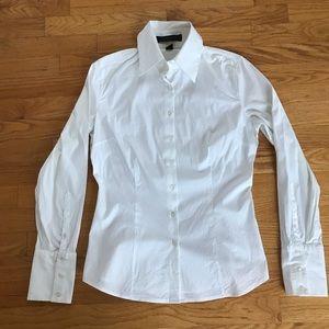 Express button up white dress shirt